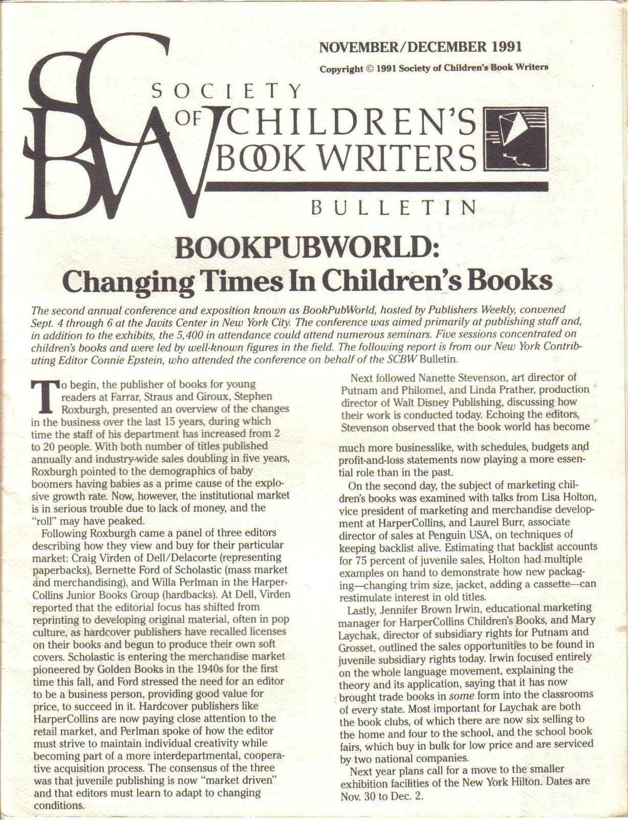 (7) SOCIETY OF CHILDREN'S BOOK WRITERS & ILLUSTRATORS image 14