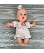 Gerber Fruit Baby Peaches Doll 8 Inches Blue Eyes Molded Hair Vintage 1996 - $14.99