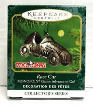 2001 Hallmark Keepsake Monopoly Race Car Christmas Miniature QXM5292 - $12.00