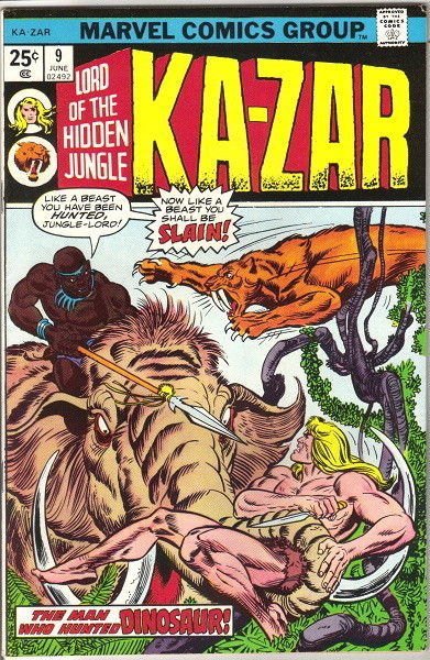 Primary image for Ka-Zar Lord of the Hidden Jungle Comic Book #9 Marvel Comics 1975 FINE-