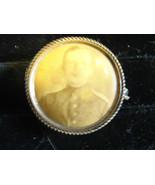ORIGINAL ANTIQUE Vintage FRAMED 1898 military button of picture of soldier - $50.45