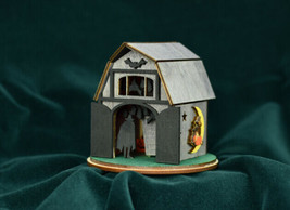 GINGER COTTAGES GINGER BOO! BARN 'O BATS HALLOWEEN HOLIDAY ORNAMENT GB105 - $19.88