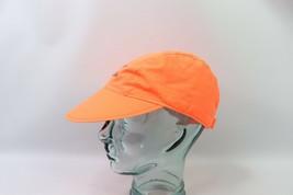 Vtg 90s Cayman Islands Spell Out Adjustable 3 Panel Floppy Brim Hat Neon Orange image 2