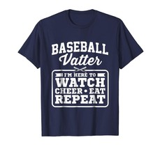 New Shirts - Baseball Vatter Here To Watch Cheer Eat Repeat T-Shirt Men - $19.95+