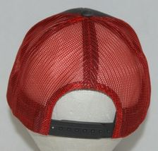 OC Sports Adjustable Snapback Style Mesh Back Red Charcoal Baseball Cap image 4