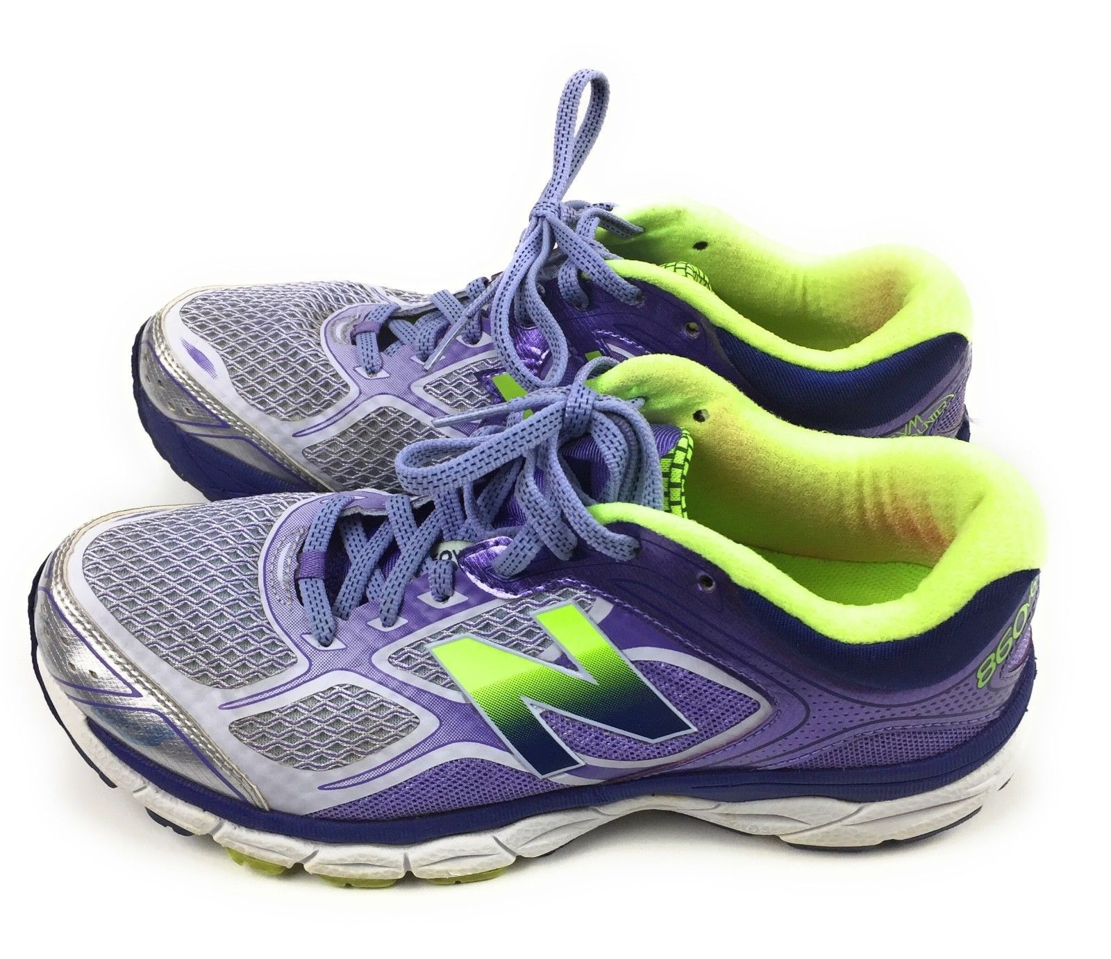 New Balance 860v6 Athletic Running Shoes W860GP8 Purple Green Women's Size 8 US image 4
