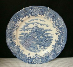 "Vint English Village By Salem China 9 7/8"" Plate & Hanger Olde Staffordshire - $9.69"