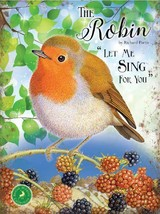 El Robin Fauna Británica Colección Jardín Ave Metal Grande Letrero Pared Acero - $13.95