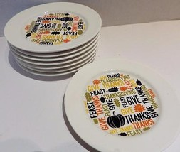 (8) Thanksgiving Canape Plates Dessert Pie Pumpkin - $16.40