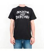 T-SHIRT MAN THRASHER SKATE & DESTROY T-SHIRT 110103BK - $31.06