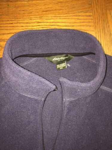 EDDIE BAUER Mens Gray Full Zip Fleece Two Pocket Vest Size 2XL HOODLESS image 3