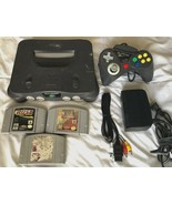 ☆ Nintendo 64 Console System Bundle (NTSC) W/ 3 N64 Games Lot - Tested W... - $75.00