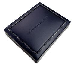 Tommy Hilfiger Men's Leather Wallet Passcase Billfold Navy Bone 31TL22X040 image 9