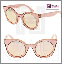 FENDI BE YOU FF0196FS Pink Rose Gold Mirrored Sunglasses Cat Eye Runway ... - $257.40