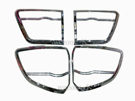 CHROME TAIL LIGHT TAILLIGHT COVER TRIM FOR TOYOTA FORTUNER 2012 2013 201... - $59.31