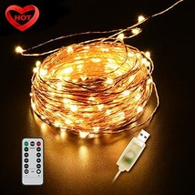 Ylife 33Ft 100 LED Fairy Light, 8 Modes String Lights Waterproof, USB In... - $15.23