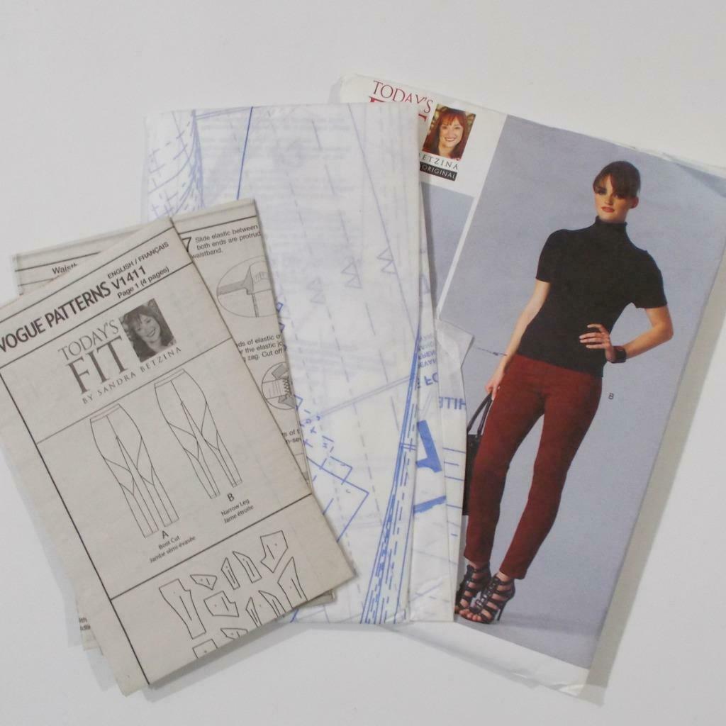 Todays Fit Vogue Pants Pattern V1411 Sandra Betzina Size OSZ Uncut image 6