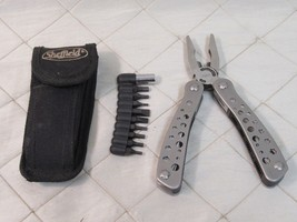 """Sheffield Multi Tool 6"""" w/ Pouch and Bit Set Stainless Steel Utility  - $19.34"""