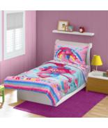 Trolls Cupcakes and Rainbows, Toddler Bed Set comforter pillowcase Pink ... - $31.53