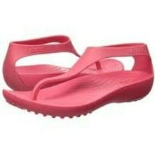 CROCS Womens Serena Flip Flop Pink Shoes Size 6 - $28.70