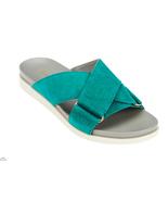 Franco Sarto Criss-cross Slide Sandals - Lure Jade 9M - £18.89 GBP