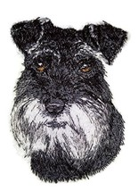 Amazing Dog Faces[ Schnauzer Dog Face] Embroidery Iron On/Sew patch [2.9... - $7.91