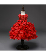 Toddler Infant Party Ball Gown Dress Red dress for Baby Girl Birthday Dr... - $59.99