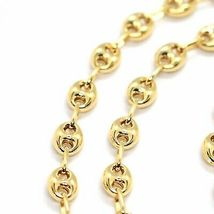 MASSIVE 18K YELLOW GOLD BIG MARINER CHAIN 5 MM, 20 INCHES, ITALY MADE NECKLACE image 3