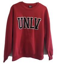 Sportex Sweatshirt UNLV EMBROIDERED LOGO RED Size Large 90's Vintage Crew  - $56.05