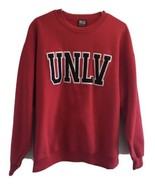 Sportex Sweatshirt UNLV EMBROIDERED LOGO RED Size Large 90's Vintage Crew  - $56.05