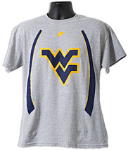 West Virginia Mountaineer's Flying WV w/ Stripes on side T-Shirt Size Large - $13.99