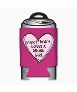 Everybody Loves a Drunk Girl In A Heart Beer Huggie Can Cooler Koozie NE... - $5.94