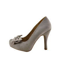 Qupid Trench 256x Taupe Women's Closed Toe Bow Embellished Pump - $31.95
