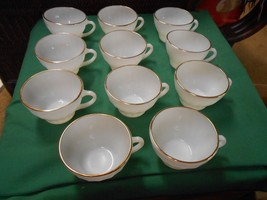 Great Collectible Vintage FIRE KING Milk White Set of 11 CUPS.............. - $17.33