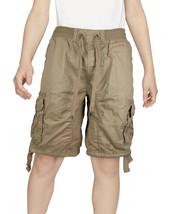 Boys Elastic Waist Drawstring Multi Pocket Cotton Toddler Kids Cargo Shorts image 2