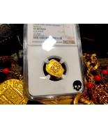"SPAIN 1 ESCUDO ""DATED"" 1610-19 ""ATOCHA ERA"" NGC VF PIRATE GOLD COINS TRE... - $1,695.00"