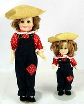 Vintage 1982 Ideal Shirley Temple Doll Rebecca Of Sunnybrook Farm 12 & 6... - $29.42