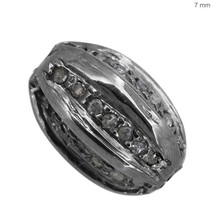 7mm Diamond Pave Spacer Bead 925 Sterling Silver Vintage Inspire Finding... - $59.53