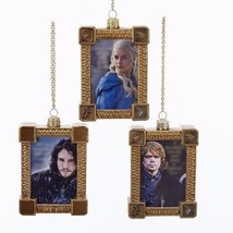 Game Of Thrones Framed Character Glass Ornament 3 Assortment For Holiday... - £26.51 GBP