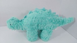 Manhattan Toy plush light green dinosaur 2015 textured stegosaurus  - $17.81