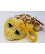 Vintage Russ Make Someone Happy Yellow Brown Spotted Turtle Shelly Keychain - $15.15