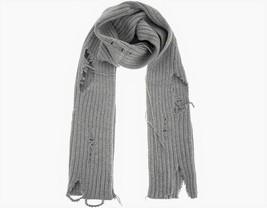 Diesel Unisex K-Dom 00SJ49 Coarse Knitting Scarf Grey - $172.26