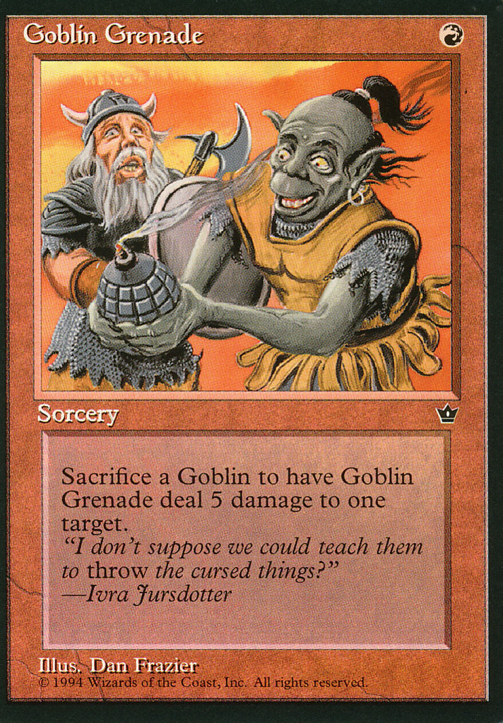 Magic: The Gathering - Fallen Empires - Goblin Grenade (A)