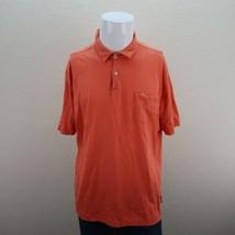 Tommy Bahama Relax Pima Cotton Coral Orange Short Sleeve Casual Shirt Mens Large - $22.95