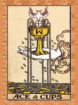 Decoration Poster from Vintage Tarot Card.Ace of Cups.Mystical wall Decor.11426 - $10.89+