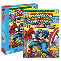 Captain America Mad Bomb Comic Cover 500 Piece Puzzle  - $28.98