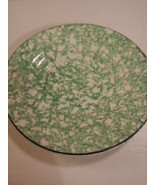 """Stangl TOWN & COUNTRY GREEN Spongeware 6-1/4"""" Saucer Bread Plate Hand Pa... - $14.80"""