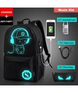 Luminous Backpack School Anime USB Laptop Computer Backpack Anti-theft B... - $31.08