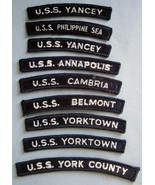 Collection of (9) U.S.S. Military Ship Designation Uniform Patches - $23.70