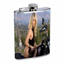 Norwegian Pin Up Girls D17 Flask 8oz Stainless Steel Hip Drinking Whiskey - $13.81